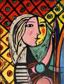 Pablo Picasso Spanish Cubism Portrait Female Women Oil