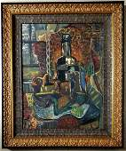 Pablo Picasso Abstract Cubist Still life Spanish Oil C
