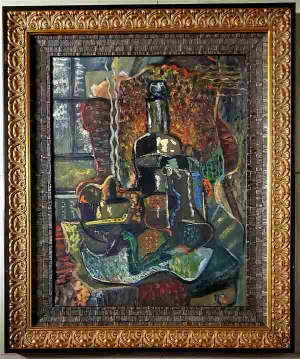 Pablo Picasso Abstract Cubist Still life Spanish Oil C.