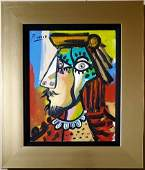 Pablo Picasso Oil Canvas Portrait Female Cubist Spanish