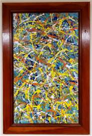 Jackson Pollock Oil Canvas Abstract Expressionism Large