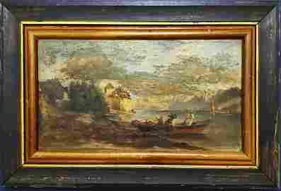 Claude Monet Impressionist Boats Seascape Landscape Oil