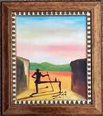 Salvador Dali Landscape Oil Canvas Spanish Surrealist