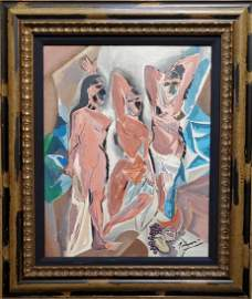 Pablo Picasso Cubist oil Spanish Female Women Abstract