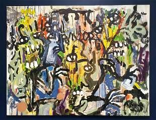 Willem de Kooning Abstract Impressionist Large Canvas