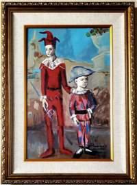 Pablo Picasso Arlequines Harlequins Acrobats Landscape