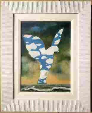 Rene Magritte Surrealist Landscape Oil Canvas