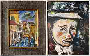 Wassily Kandinsky Abstract Landscape Clown Two-in One.