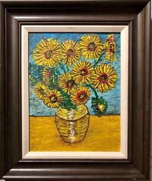 Vincent Van Gogh Still Life Flowers Sunflowers Dutch