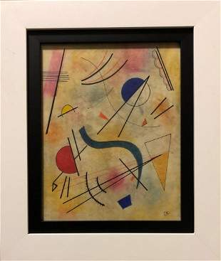 Wassily Kandinsky Abstract Geometric Russian Drawing