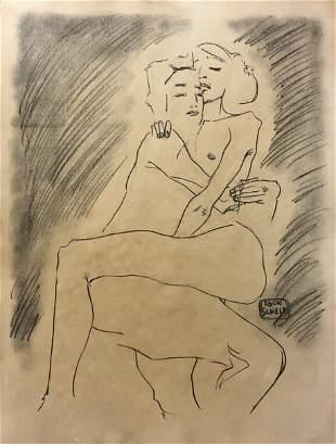 Egon Schiele Austrian Women Female Nude Portrait