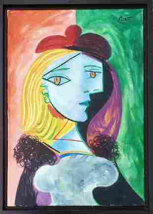 Pablo Picasso Spanish Cubism Oil Canvas Abstract Female