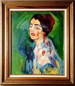 Gustav Klimt Portrait Women Female Oil Canvas Female
