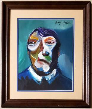 Francis Bacon Irish British Portrait Surrealist Oil Art