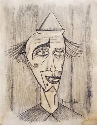Bernard Buffet Expressionist Clown French Portrait Art