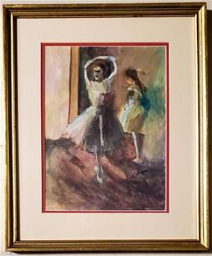 Edgar Degas Impressionist Ballerina Dancer Painting .