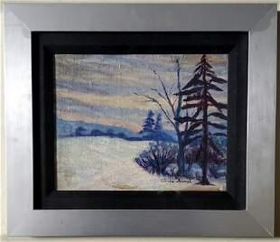 Claude Monet Impressionist Landscape Oil French Winter