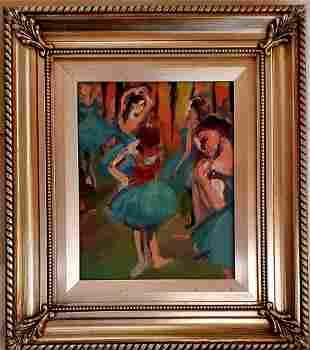 Edgar Degas Ballerinas Dancer French Impressionist Oil