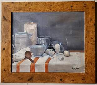 Paul Gauguin Oil on Canvas Still Life French Painting.