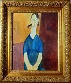 Amadeo Modigliani Portrait Female Women Italian Oil Can