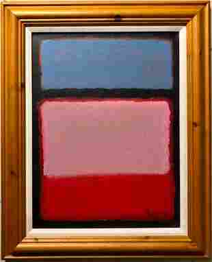 Mark Rothko American Abstract Expressionist Oil canvas