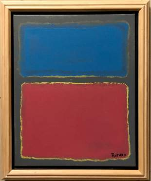 Mark Rothko American Abstract Expressionist Oil
