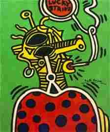 Keith Haring American Pop Art New York hand painted