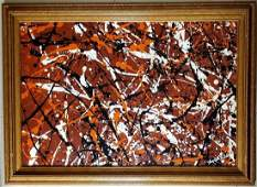 Jackson Pollock Abstract Expressionist American Oil Can