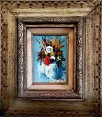 Jean Dufy Oil on Masonite French Still life Flowers