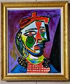 Pablo Picasso Cubism Cubist Spanish Female Oil Canvas
