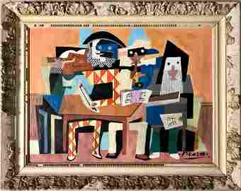 Pablo Picasso Spanish Cubism Female Women Abstract oil