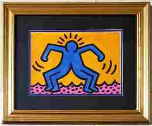 Keith Haring American Pop Art New York hand painted