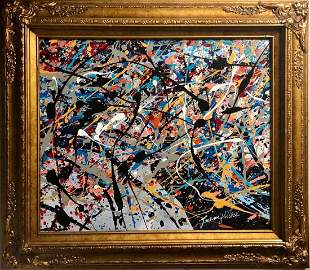 Jackson Pollock Abstract Expressionism American Oil CAN