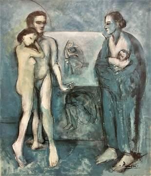 Pablo Picasso Blue Landscape Female Family Maternity