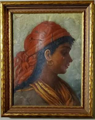 Joaquin Sorolla Gypsy Women Portrait Oil Canvas Spanish