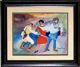Diego Rivera Mexican Art Painting Family Landscape