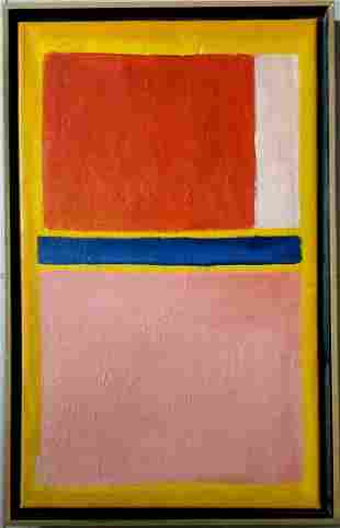 Mark Rothko Abstract Expressionism American Oil Canvas