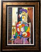 Pablo Picasso Spanish Cubism Oil on Canvas Abstract