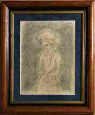 Gustav Klimt Women Portrait Drawing Austrian Female Art