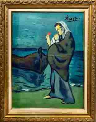 Pablo Picasso Spanish Landscape Blue Period Maternity