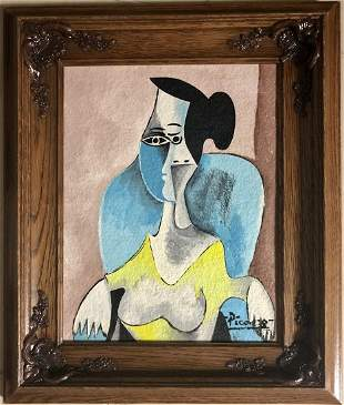 Pablo Picasso Abstract Cubism Spanish Female Oil