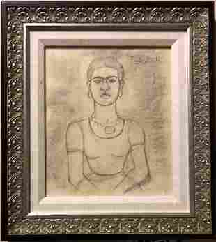 Frida Kahlo Drawing Graphite Portrait Drawing Mexican