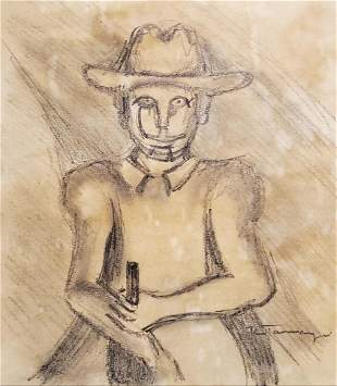Rufino Tamayo Drawing Mexican Portrait Musician
