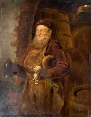 Eduard von Grutzner German Male Portrait Interior