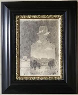 Rene Magritte Surrealist Belgian Landscape Male