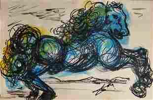 Salvador Dali Drawing Surrealism Spanish Art Horses