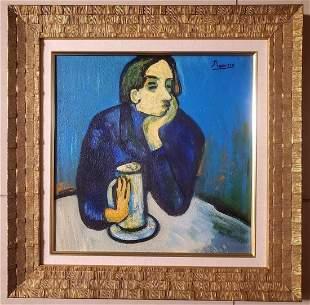 Pablo Picasso Blue Period Interior Male Hombre Spanish