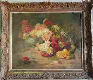 Georges Jeannin Flowers Still Life (French, 1841-1925)