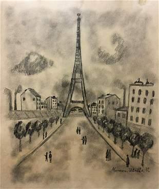 Maurice Utrillo Landscape French Art Drawing Landscape