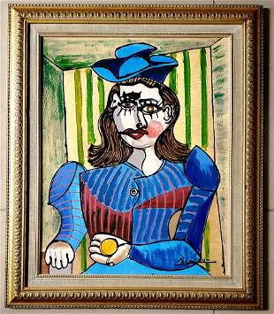Pablo Picasso Spanish Cubism Oil Canvas Female Mujer